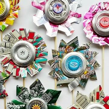flores con latas de aluminio increibles