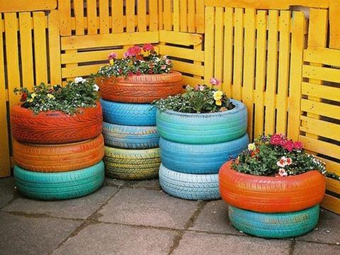 jardines con llantas de carro idea facil