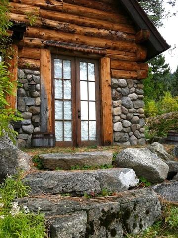 jardines con piedras y troncos grandes