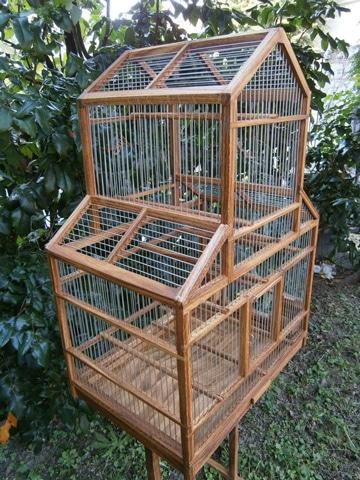 jaulas de madera para canarios grandes