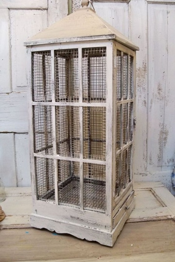 jaulas de madera para canarios rusticas