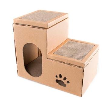 juegos caseros para gatos con escalones