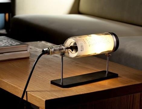 lamparas hechas con botellas idea practica
