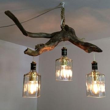 lamparas hechas con botellas para colgar