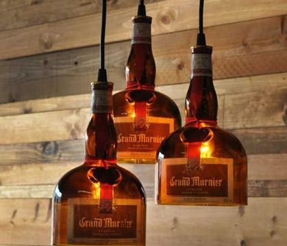 lamparas hechas con botellas recicladas