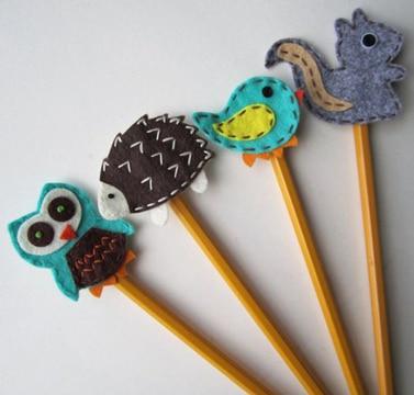 lapices decorados para niños pequeños