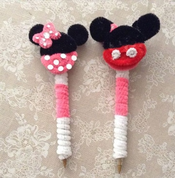 lapices decorados para niños sencillos