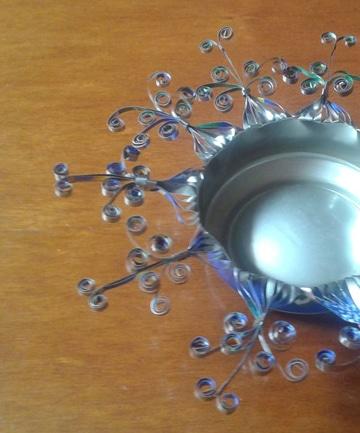 manualidades con latas de aluminio para adornar