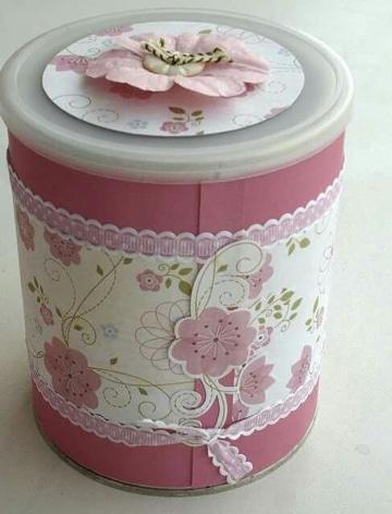 manualidades con latas de leche decoradas