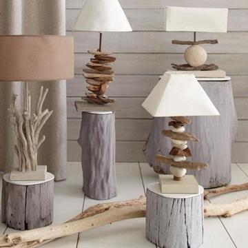 mesas de troncos de madera pequeñas