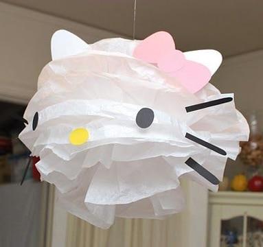 piñatas con material reciclado hello kitty
