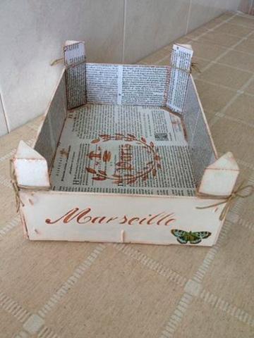 A pintar cajas de madera de fruta para decorar tus espacios - Como decorar cajas de madera de fruta ...