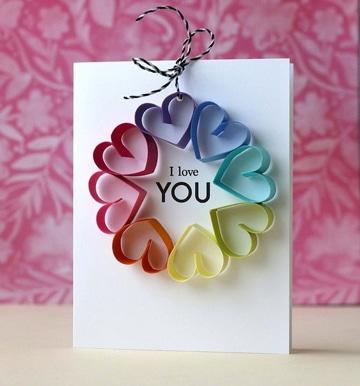 tarjetas creativas hechas a mano para enamorados