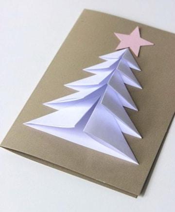 tarjetas creativas hechas a mano para navidad