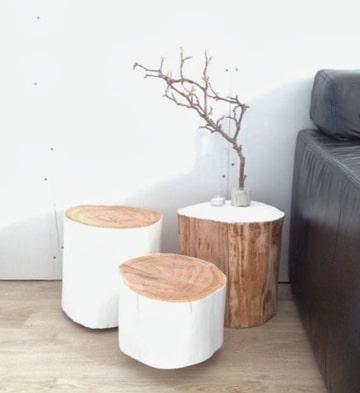 troncos de arboles para decorar en habitaciones