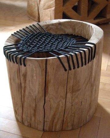 troncos de madera para sentarse sencillos