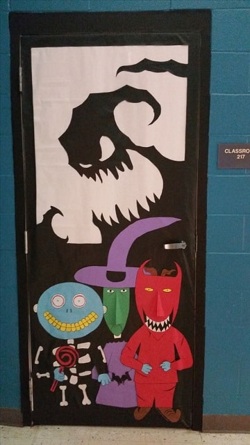 adornos para puertas halloween originales