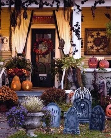 casas decoradas para halloween originales