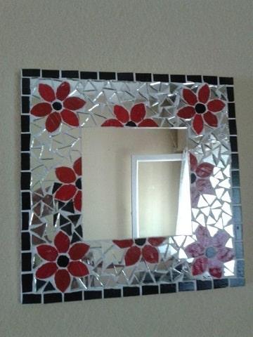 como decorar un espejo para baño cuadrados