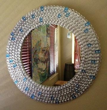 como decorar un espejo para baño redondos