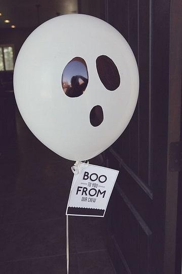 como hacer fantasmas para halloween con globos