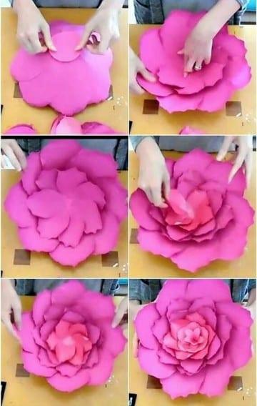 Mira como hacer flores de papel bond para tus decoraciones