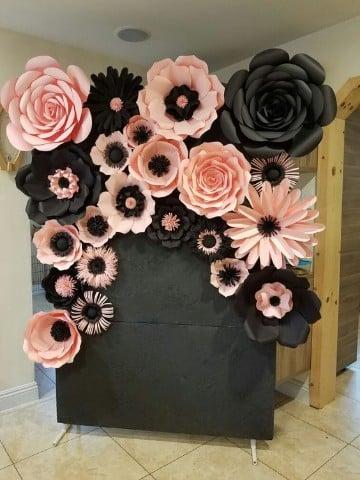 como hacer flores de papel bond gigantes