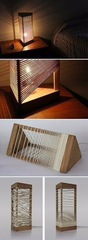 como hacer lamparas de madera caseras