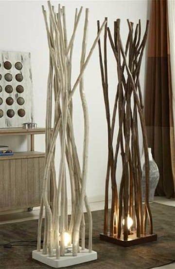 como hacer lamparas de madera rustica