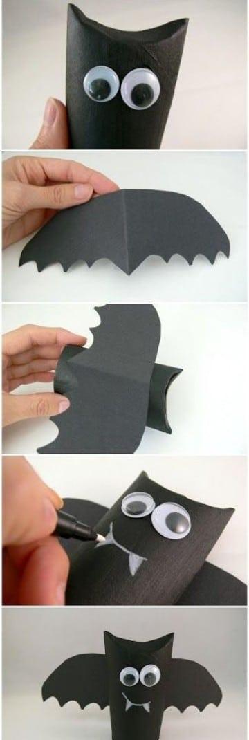 como hacer murcielagos para halloween de para dulces