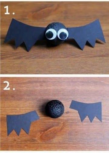 como hacer murcielagos para halloween para colgar