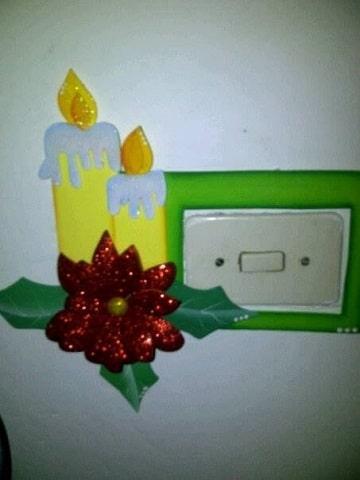 como hacer velas navideñas en foami decoracion