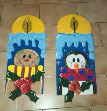 como hacer velas navideñas en foami para niños