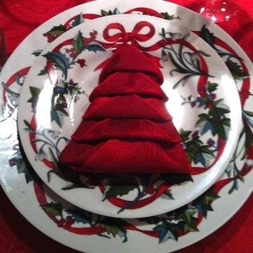 decoracion con servilletas de papel navidad