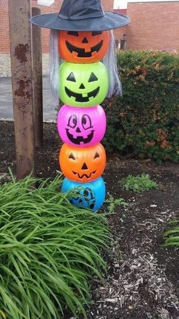 decoracion de calabazas para halloween secas