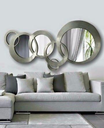 decoracion de salas con espejos modernos
