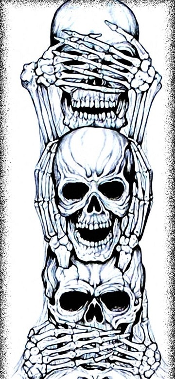 dibujos de calaveras de halloween diseños