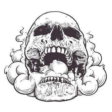 dibujos de calaveras de halloween terrorifica