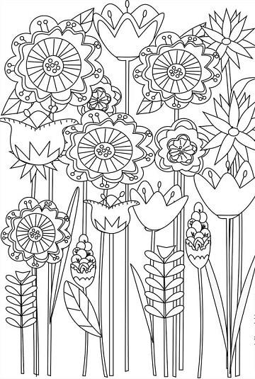dibujos de la primavera para niños para colorear