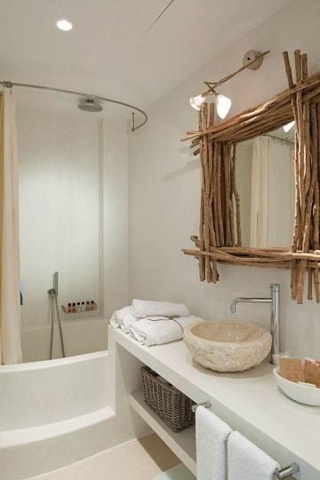 espejos rusticos para baño pequeños