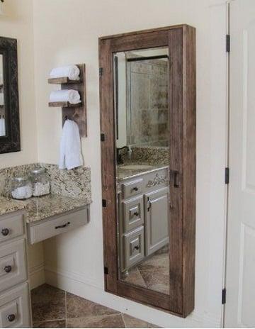 espejos rusticos para baño sencillos