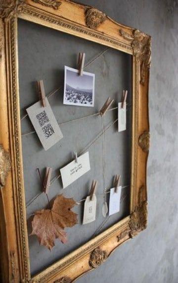 fotos colgadas con pinzas en tu habitacion