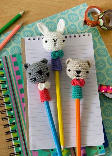 imagenes de lapices decorados crochet