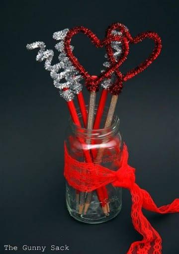 lapices decorados con limpiapipas para vender