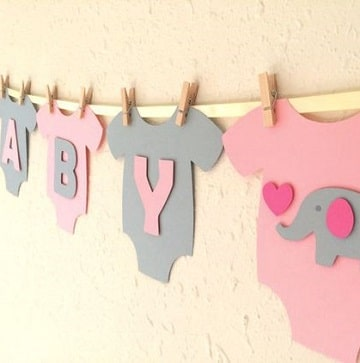 letras en cartulina para carteles baby shower