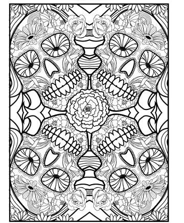 mandalas de calaveras para colorear diseños