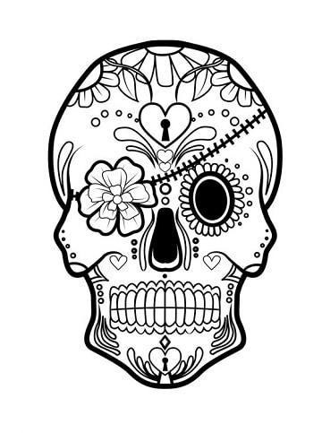 Dibujos calaveras para colorear decorar ideas creativas for Disenos de mandalas
