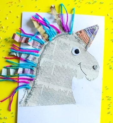 manualidades con periodico para niños ideas