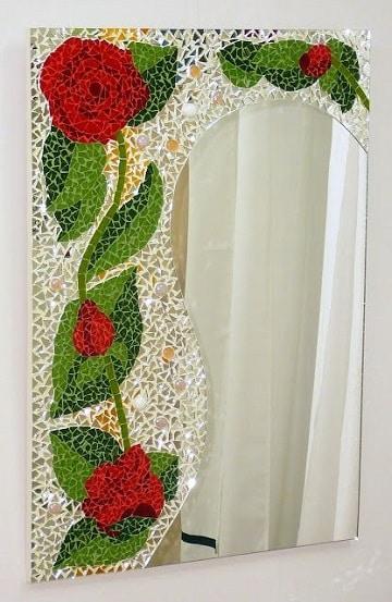 marcos para espejos reciclados pedazos de mosaico
