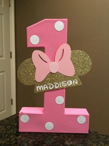 numeros decorados para fiestas para niña